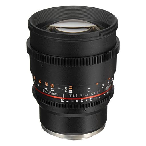 RO 16 CINE LENS SAMYANG 85 – T 1.5 VDSLR - OTTICA CINEMA EF SAMYANG 85mm – f/1.5 AS IF UMC FF