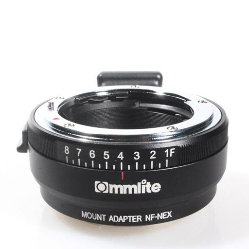 RO 19 AUTO FOCUS ADAPTER EF NEX Ommlite - ADATTATORE COMMLITE AUTO Focus: FF EF lens per E-MOUNT